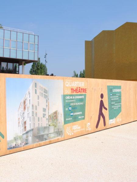 Palissade chantier bois responsable